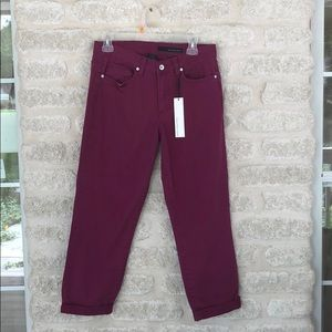 NWT Calvin Klein purple roll up jeans size 12 / 31